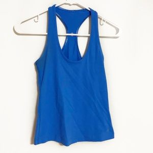 Lululemon blue reversible racerback tank top